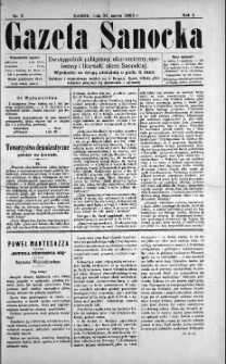 Gazeta Sanocka, 1895, nr 7