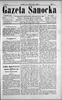 Gazeta Sanocka, 1895, nr 8