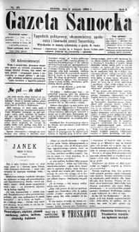 Gazeta Sanocka, 1895, nr 18