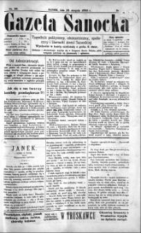 Gazeta Sanocka, 1895, nr 20