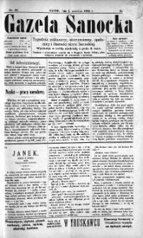Gazeta Sanocka, 1895, nr 22