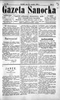 Gazeta Sanocka, 1895, nr 24