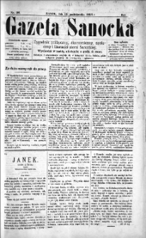 Gazeta Sanocka, 1895, nr 28