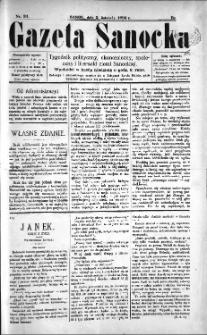 Gazeta Sanocka, 1895, nr 31