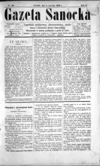 Gazeta Sanocka, 1896, nr 40