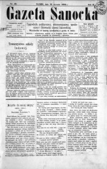 Gazeta Sanocka, 1896, nr 42