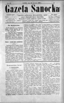 Gazeta Sanocka, 1896, nr 65