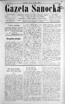 Gazeta Sanocka, 1896, nr 71