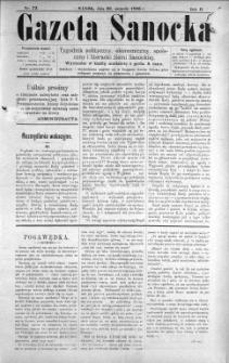 Gazeta Sanocka, 1896, nr 73