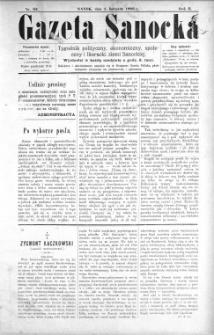 Gazeta Sanocka, 1896, nr 83