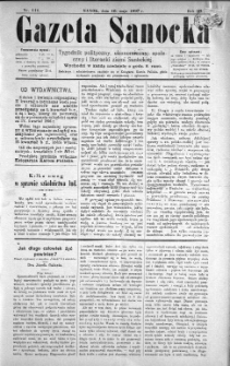Gazeta Sanocka, 1897, nr 111