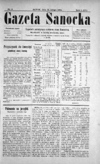 Gazeta Sanocka, 1904, nr 8