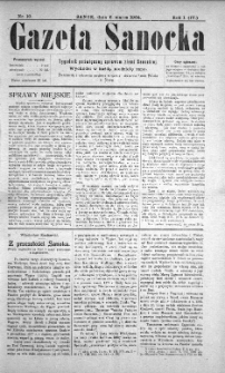 Gazeta Sanocka, 1904, nr 10