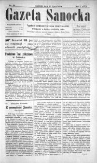 Gazeta Sanocka, 1904, nr 28