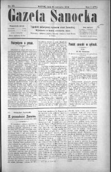 Gazeta Sanocka, 1904, nr 33