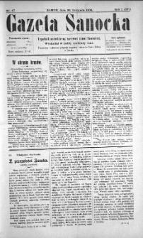 Gazeta Sanocka, 1904, nr 47