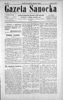 Gazeta Sanocka, 1905, nr 56