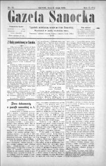 Gazeta Sanocka, 1905, nr 73