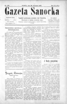 Gazeta Sanocka,1906, nr 109