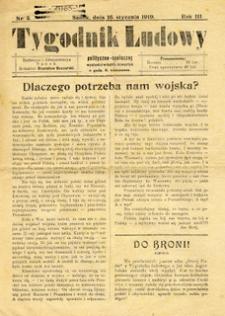 Tygodnik Ludowy : polityczno-społeczny, 1919, nr 3-4