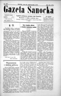 Gazeta Sanocka,1906, nr 147