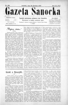 Gazeta Sanocka,1906, nr 156