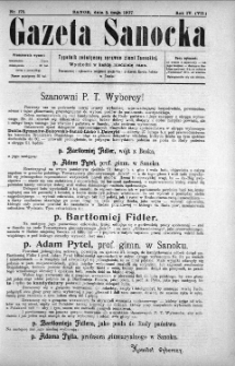 Gazeta Sanocka, 1907, nr 175