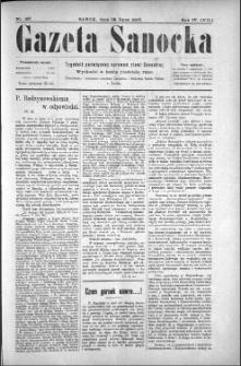 Gazeta Sanocka, 1907, nr 187