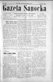 Gazeta Sanocka, 1907, nr 194
