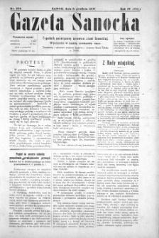 Gazeta Sanocka, 1907, nr 204