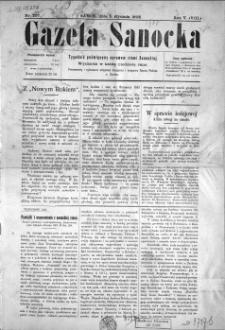 Gazeta Sanocka, 1908, nr 207