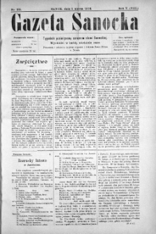 Gazeta Sanocka, 1908, nr 215