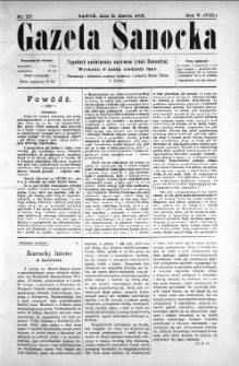 Gazeta Sanocka, 1908, nr 217