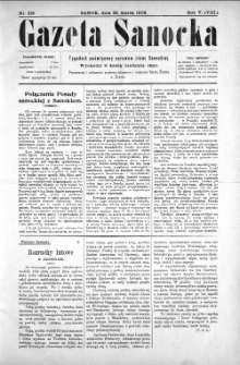 Gazeta Sanocka, 1908, nr 218