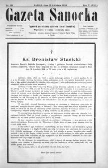 Gazeta Sanocka, 1908, nr 221
