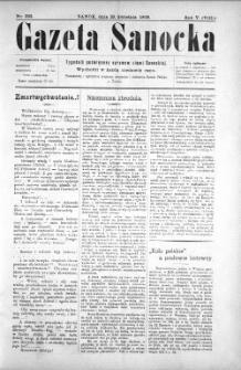 Gazeta Sanocka, 1908, nr 222