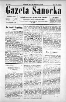 Gazeta Sanocka, 1908, nr 223