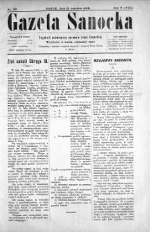 Gazeta Sanocka, 1908, nr 231