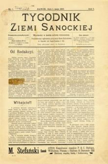 Tygodnik Ziemi Sanockiej, 1910, nr 1