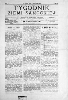 Tygodnik Ziemi Sanockiej, 1913, nr 2
