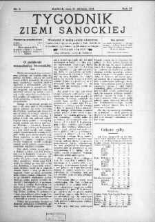 Tygodnik Ziemi Sanockiej, 1913, nr 3