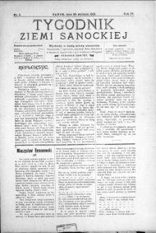 Tygodnik Ziemi Sanockiej, 1913, nr 5