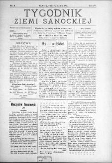 Tygodnik Ziemi Sanockiej, 1913, nr 8