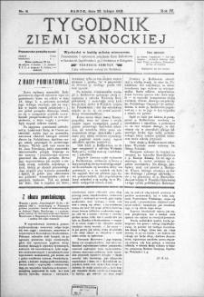 Tygodnik Ziemi Sanockiej, 1913, nr 9