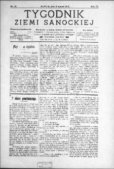 Tygodnik Ziemi Sanockiej, 1913, nr 10