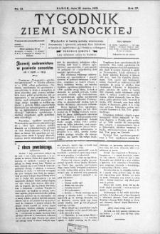 Tygodnik Ziemi Sanockiej, 1913, nr 12