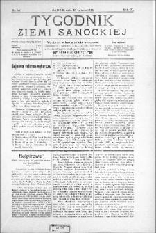 Tygodnik Ziemi Sanockiej, 1913, nr 14