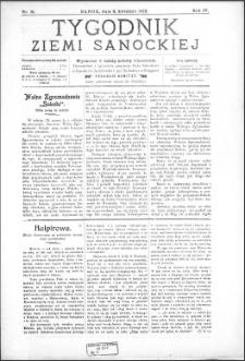 Tygodnik Ziemi Sanockiej, 1913, nr 15