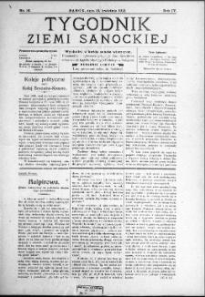 Tygodnik Ziemi Sanockiej, 1913, nr 16