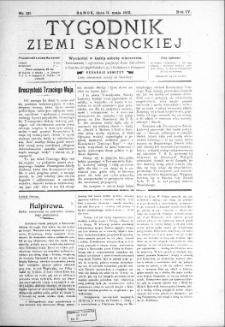 Tygodnik Ziemi Sanockiej, 1913, nr 20
